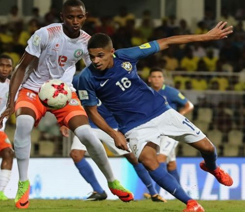 Vitinho in Goa during the 2017 FIFA U17 World Cup.