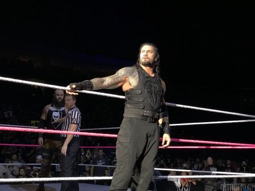 Reigns encountered Braun Strowman in a Last man standing match