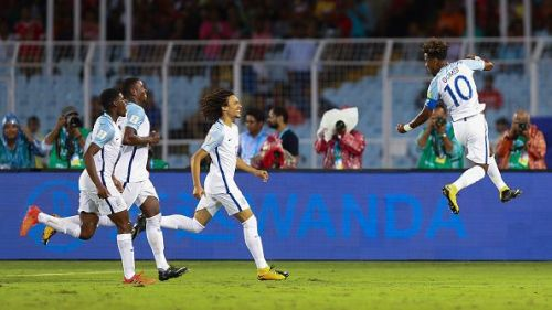 Gomes after scoring a glorious freekick at the FIFA U17 World Cup