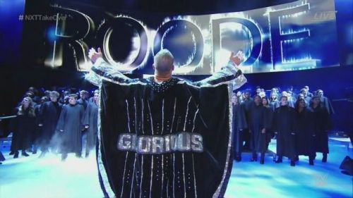 Bobby Roode clearly enjoying being the focal point in the WWE machine