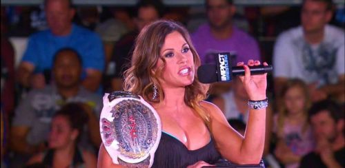 Mickie is a former three-time Knockout's Champion
