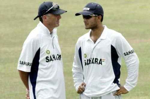 John Wright Sourav Ganguly