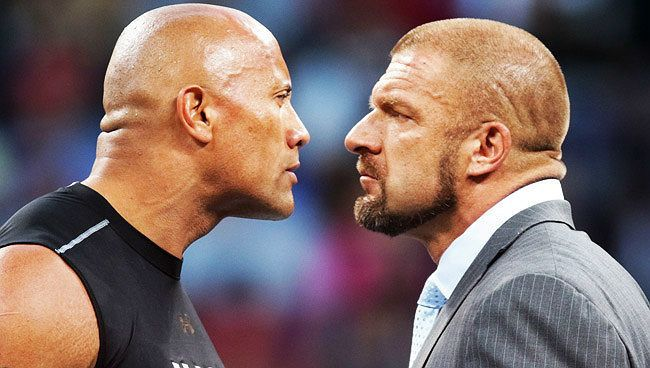 to Rock H more The time wants face WWE Triple one News: