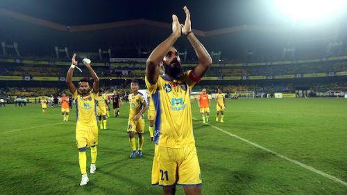 The Kerala Blasters failed to impress on the night. (Photo Credits: ISL)