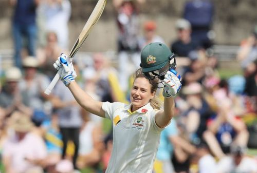 Perry converted her maiden international century into a double ton