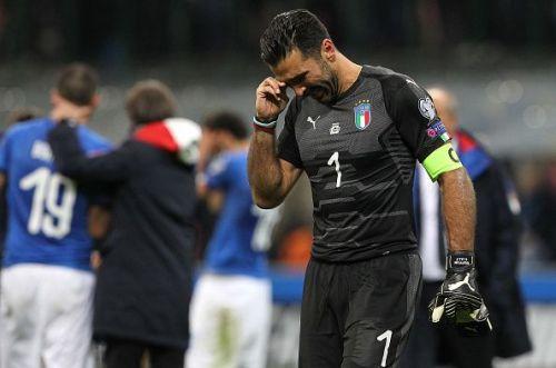 Italy Sweden highlights Buffon crying
