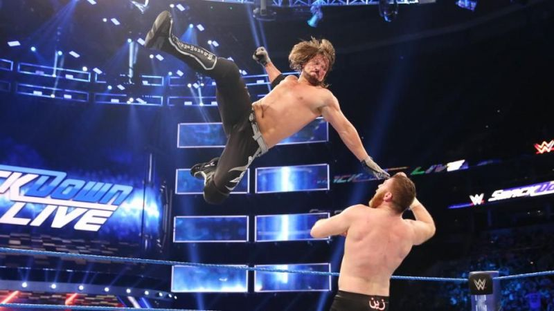 WWE Champion AJ Styles competed in a multi-person matchup after the SmackDown and 205 Live tapings