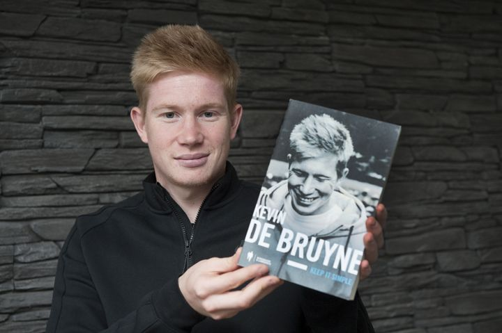 De Bruyne at the launch of his book