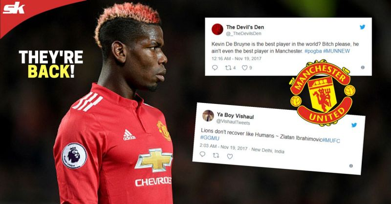 f430aa7b5b5 Twitter explodes as Paul Pogba and Zlatan Ibrahimovic return to sink  Newcastle United
