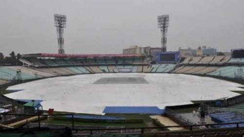 The Eden ground covered a day before the Test owing to torrential rain