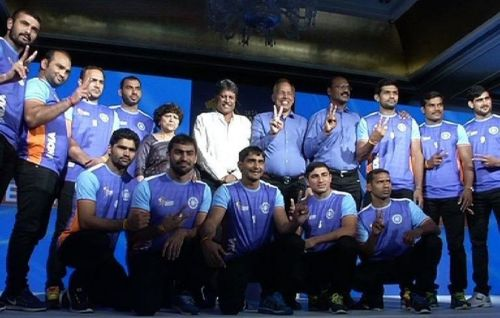 The Indian men's team at the World Cup last year
