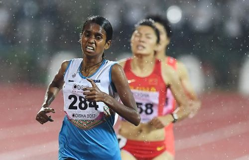 PU Chitra during her marvellous race at the 2017 Asian Athletics Championships