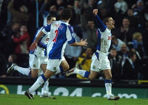 David Bentley notched a memorable hat-trick against Manchester United