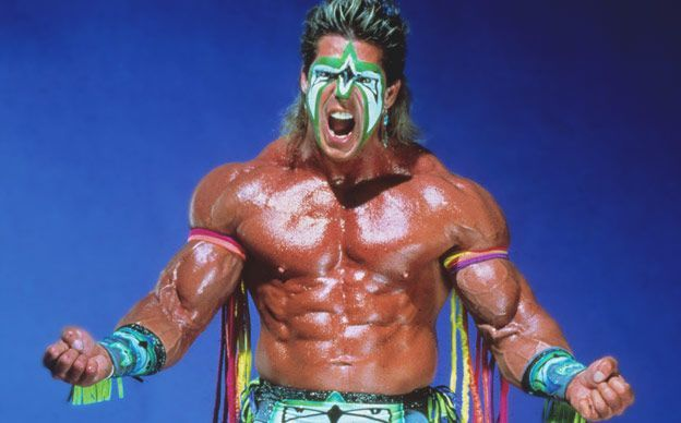 Ultimate Warrior posing for a photo