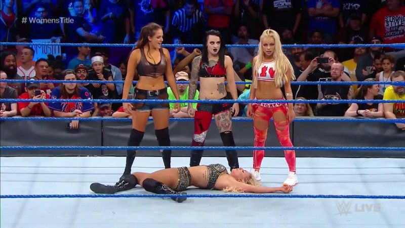 Image result for Ruby Riot, Liv Morgan and Sarah Logan Made Their SmackDown Live Debut