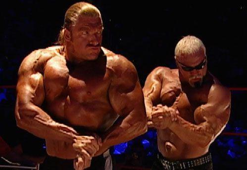 Sagging muscle wrestler