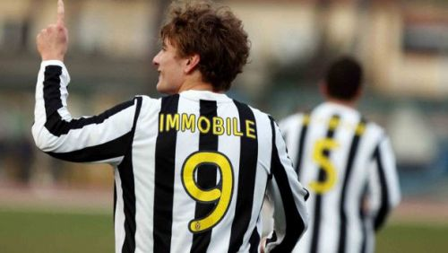 Immobile playing for Juventus youth team