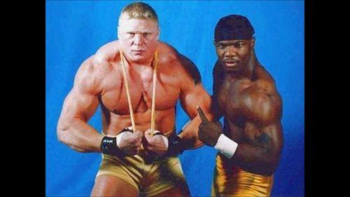 Brock Lesnar and Shelton Benjamin in OVW