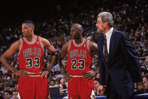 Left to Right: Scottie Pippen, Michael Jordan and Phil Jackson (Image courtesy: SI.com)