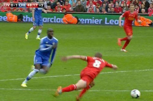Steven Gerrard's slip against Chelsea will always be remembered