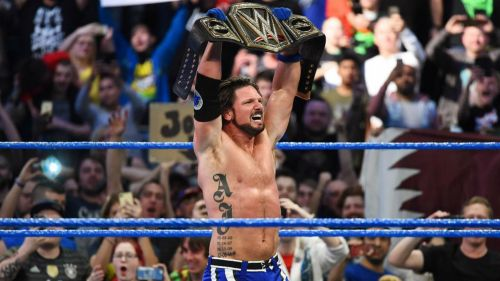 AJ Styles defended his WWE Title on the night