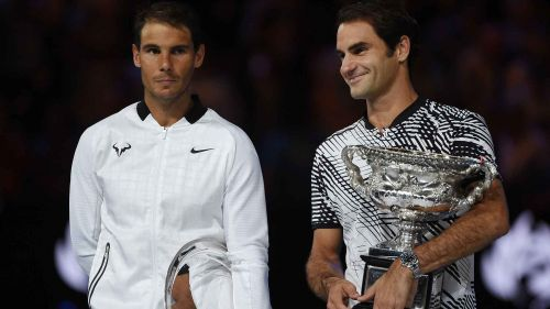 The legends, Nadal (left) and Federer (right) dominated ATP tennis in 2017