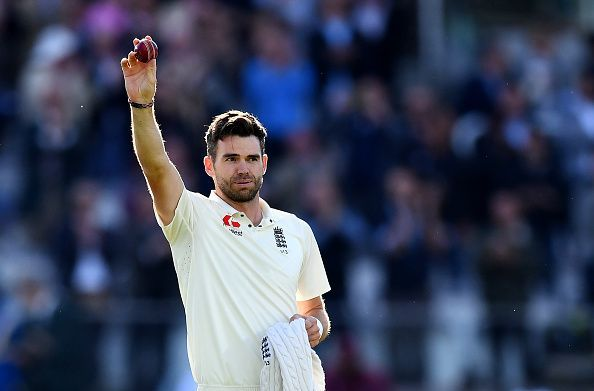 James Anderson is the leading wicket-taker for England