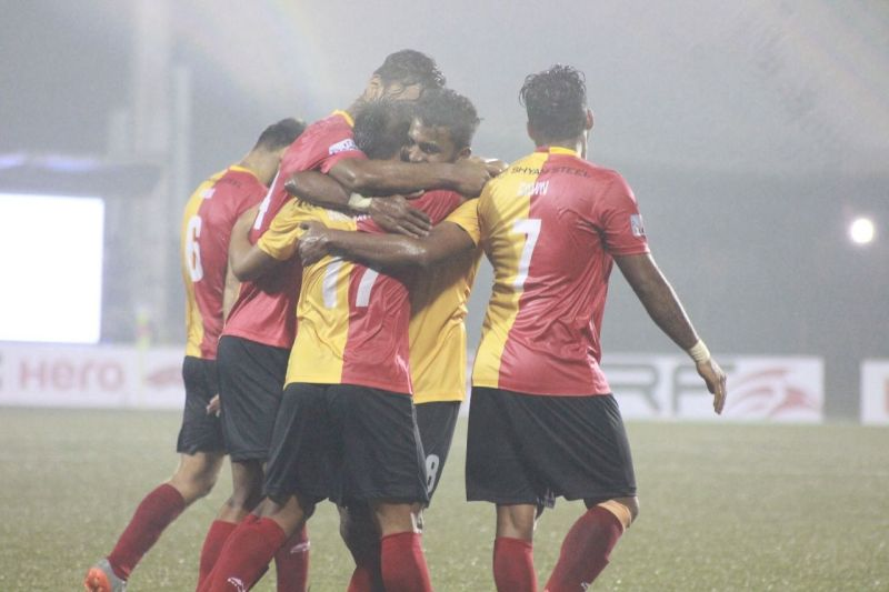 Laldanmawia Ralte after scoring his second goal against Shillong Lajong FC