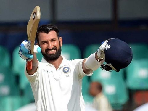 Cheteshwar Pujara scored a brilliant double hundred