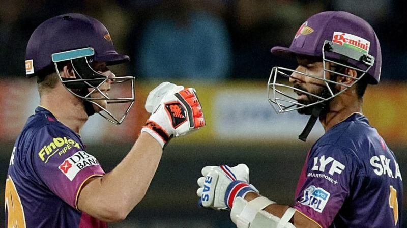 Both players played for Rajasthan before turning out for the Pune franchise