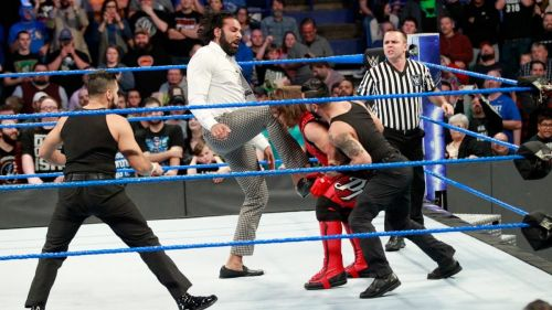Jinder Mahal attacked AJ Styles before his handicap match against The Singh Brothers