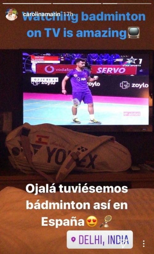 Marin's Instagram story