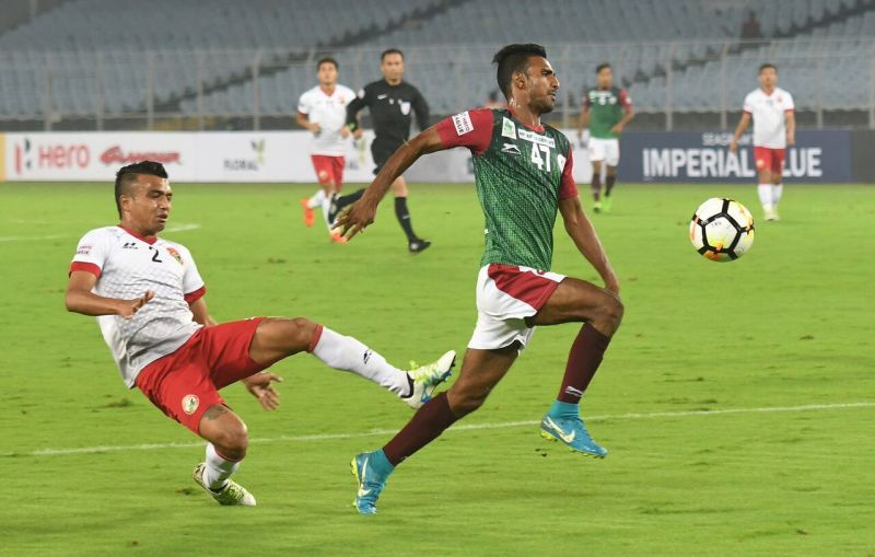Lajong would have been worried after the early penalty. (Photo: I-League)