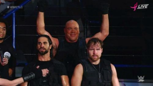 The Shield with their dad.