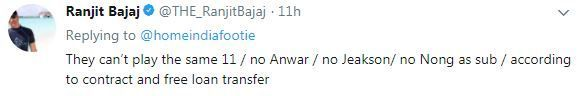 Minerva Punjab owner Ranjit Bajaj tweeted about the unavailability of the three Indian Arrows