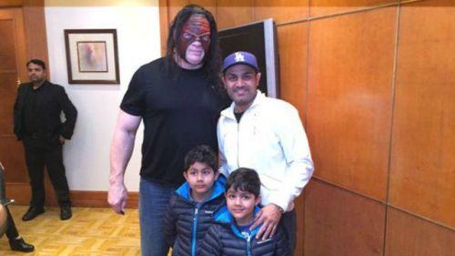 WWE Superstar Kane and cricketer Virender Sehwag