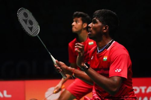 Satwiksairaj in action for India