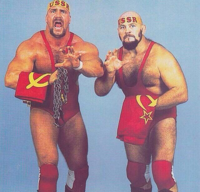Ivan and Nikita Koloff.  Neither man was born in Russia.