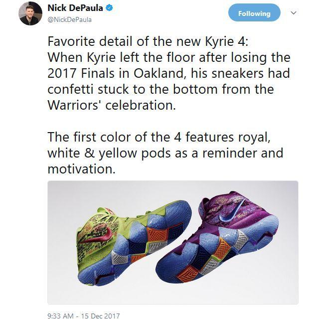 separation shoes 5d54f 943de Kyrie Irving's latest NIKE Shoes Kyrie 4's has got a hidden ...