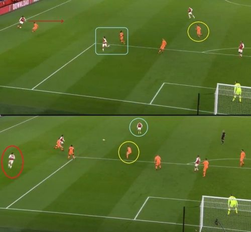 Xhaka received the pass from Iwobi and found enough space and time to shoot from long-range as Milner didn't close him down.