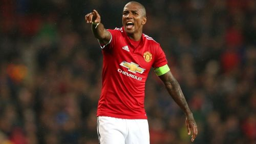 Ashley Young is United's current left-back