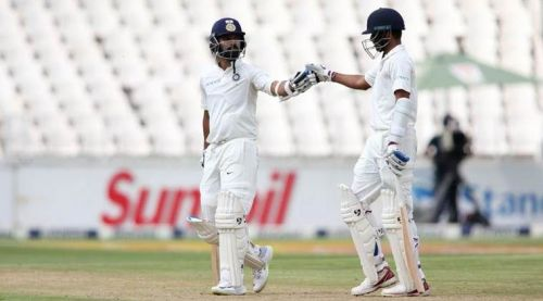 Image result for india vs south africa 2018 3rd test: Vijay and Kohli