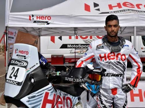 Santosh finished the rally in 35th position