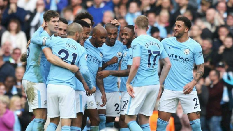 Image result for Manchester City celebrations 2018