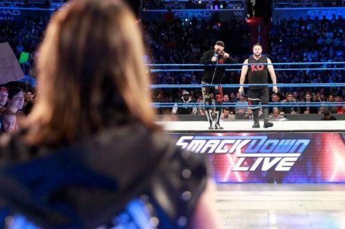 AJ Styles vs. Kevin Owens and Sami Zayn