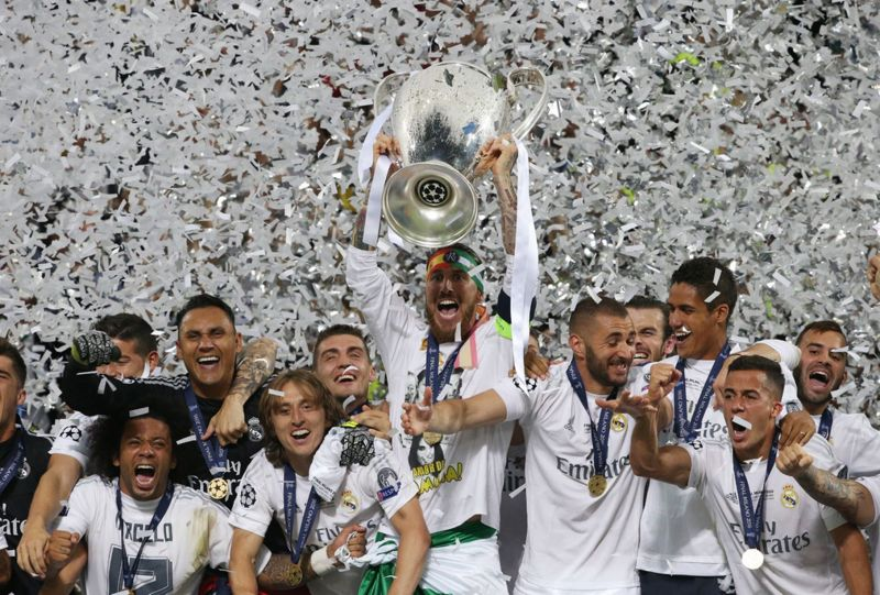 Image result for Real Madrid UCL Celebrations