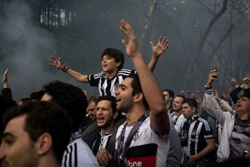 Besiktas Fans Celebrate First Game At New Vodafone Arena