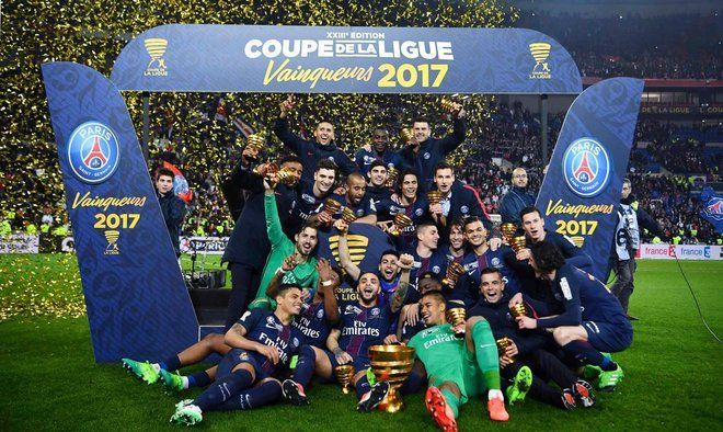 Image result for PSG trophy celebrations