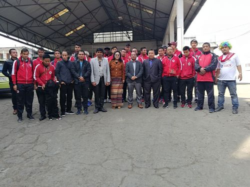 Aizawl FC were flaggd-off by the club President