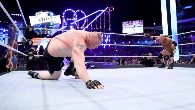 Brock Lesnar was able to retain the title against Braun Strowman and Kane